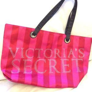 Victoria's Secret large tote bag with rhinestones